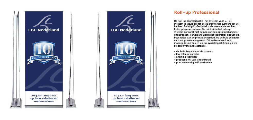 Rollup banner, dubbelzijdig, banner, Rollupbanner, dubbelzijdige banner, Roll up banner, Roll-up banner
