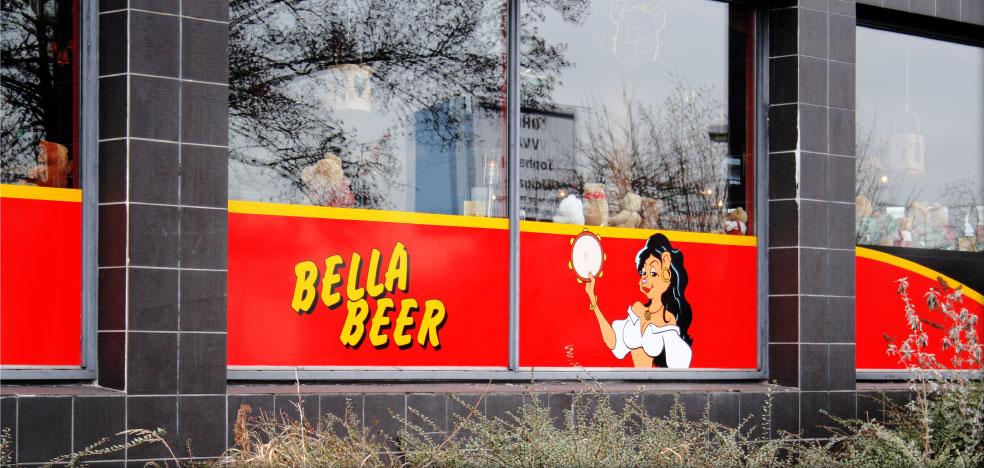 Raambestickering Bella Beer